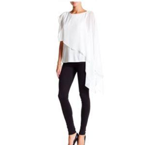 NWT Haute Hippie Top Shirt Swan Asymmetrical XS